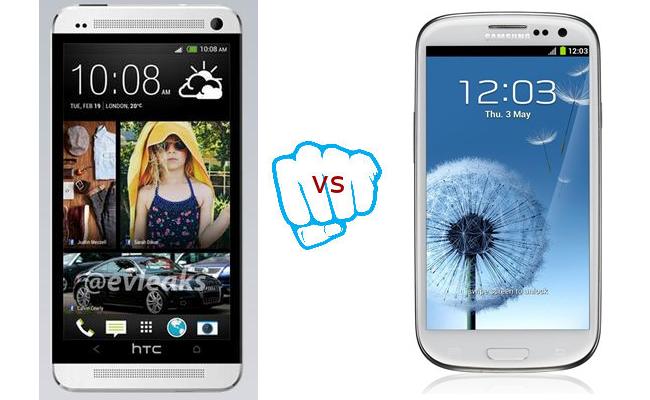 HTC One vs Samsung Galaxy S3