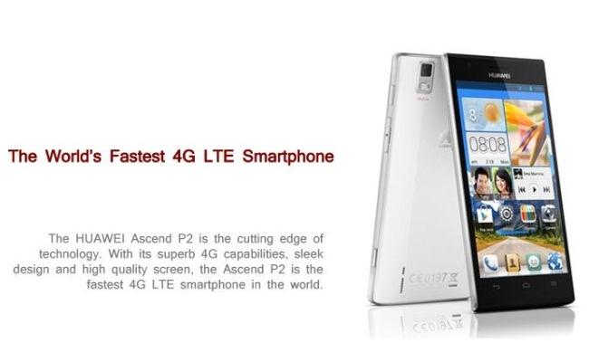 """Huawei prezanton super smartphone-in 4LTE """"Ascend P2"""""""