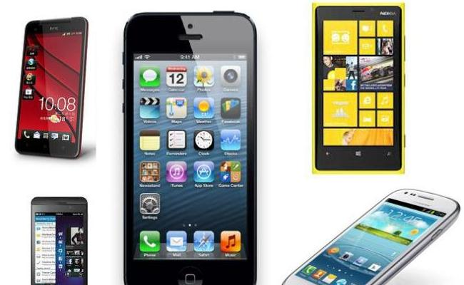Top 5-shja, HTC One, BlackBerry Z10, Nokia Lumia 920, iPhone 5, Samsung Galaxy S3