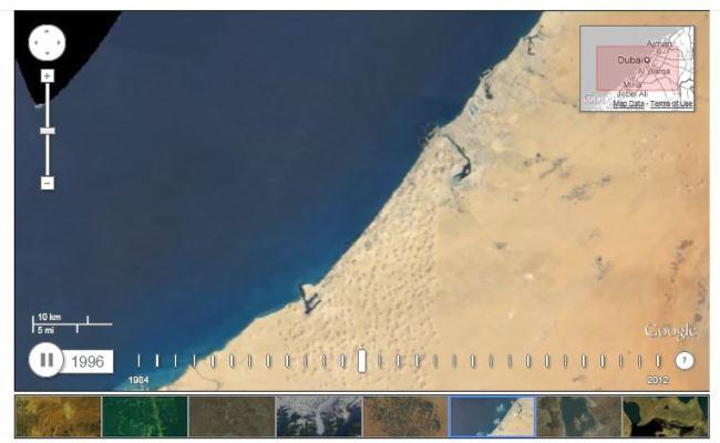 Google Earth: Pamje Satelitore të Botës nëpërmes viteve 1984-2012