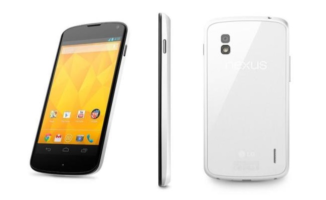 LG njofton për smartphone-in Nexus 4 me ngjyrë të bardhë
