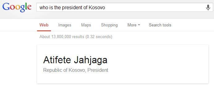 Kryetare e Kosoves
