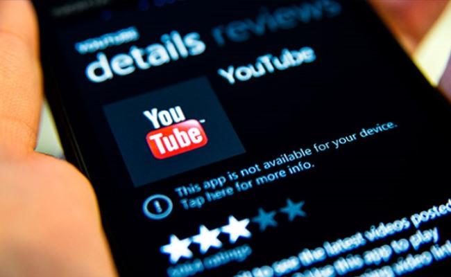 Google i kërkon Microsoft-it të heq aplikacionin YouTube nga Windows Phone