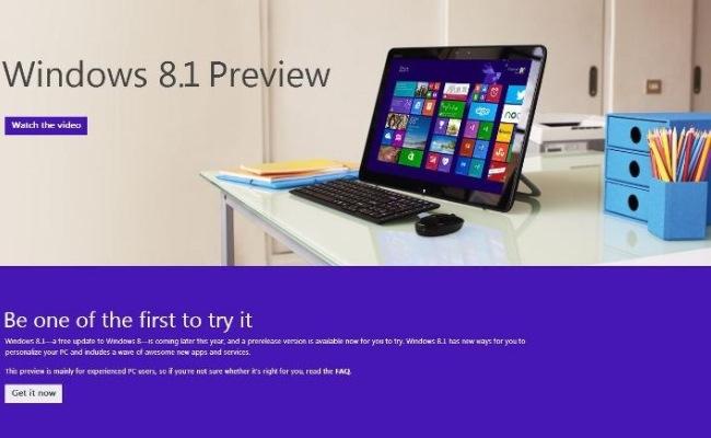 Windows 8.1 Preview tani në dispozicion për publikun
