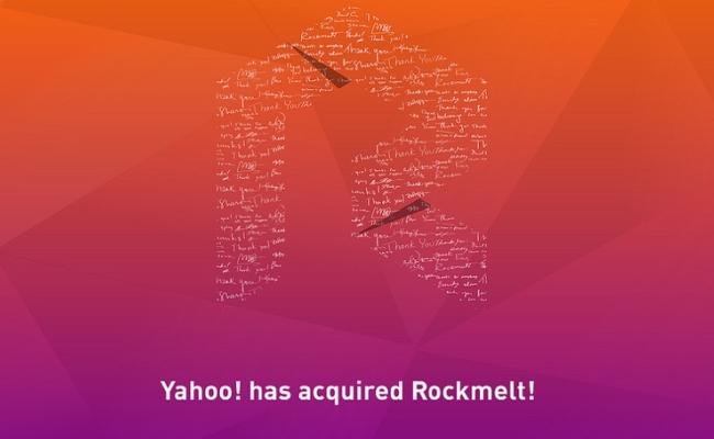 Yahoo blen Rockmelt!