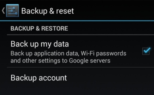 Backup my data