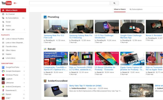 Youtube page redesigned