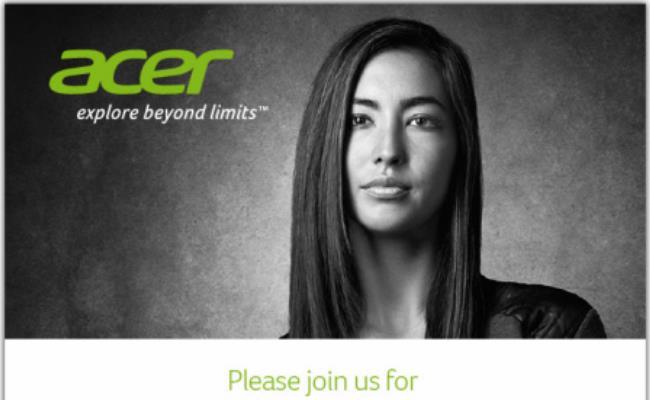 Acer lëshon ftesë për një ngjarje me 29 Prill