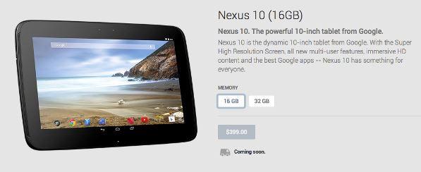 Nexus 10 se shpejti