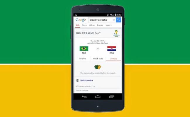 Google Search informon për FIFA World Cup 14