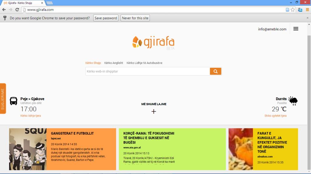 GJirafa Homepage