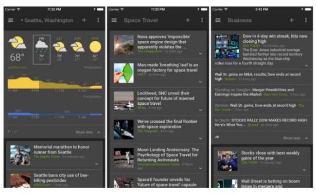 Google News and Weather tani në dispozicion për pajisjet iOS