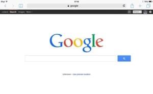 Google Search on Safari