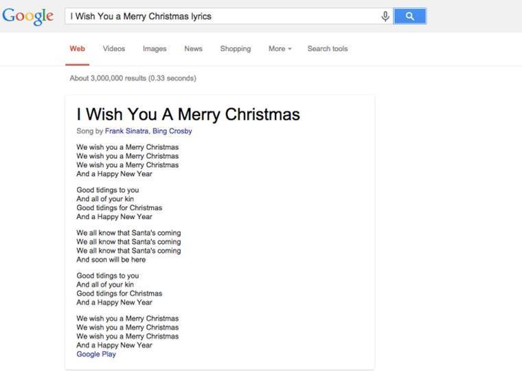 Google Song lyrics