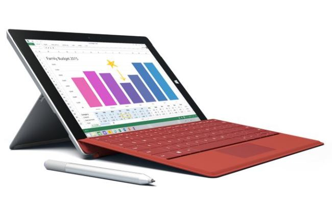 Microsoft lanson tabletin Microsoft Surface 3